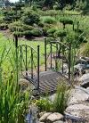 Gartenbrücke aus Metall
