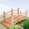Holz Teichbrücke